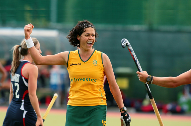 Pietie Coetzee Celebrates Scoring her 250th International Goal for South Africa