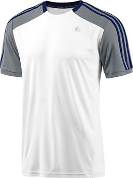 ADIDAS Boys Clima 365 Logo T Shirt Bleu