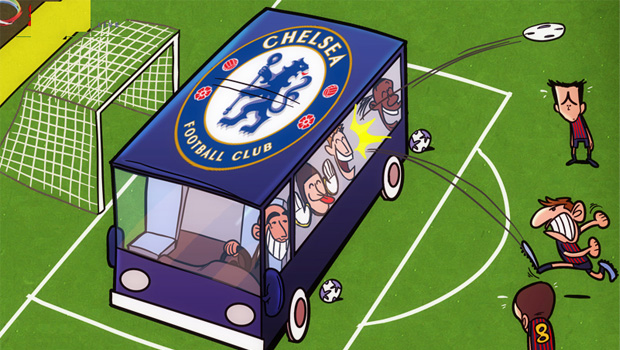 Chelsea-FC-Parking-The-Bus-Football