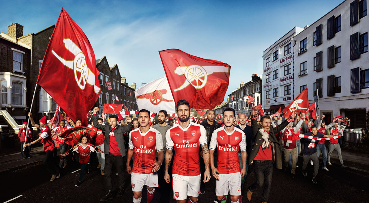 puma releases arsenal 2016 17 home kit   the pundits