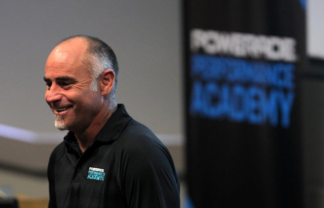Paddy Upton at the Powerade Performance Academy