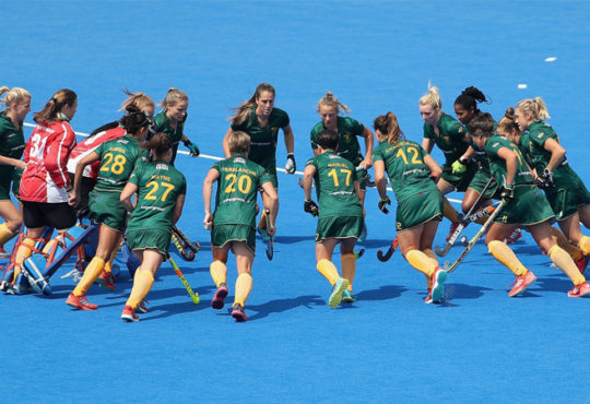 South African Hockey Women vs Spain 2018 World Cup