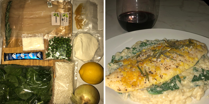 Baked Tilapia and Greens Risotto
