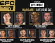EFC 78 Main Card Grand West Cape Town