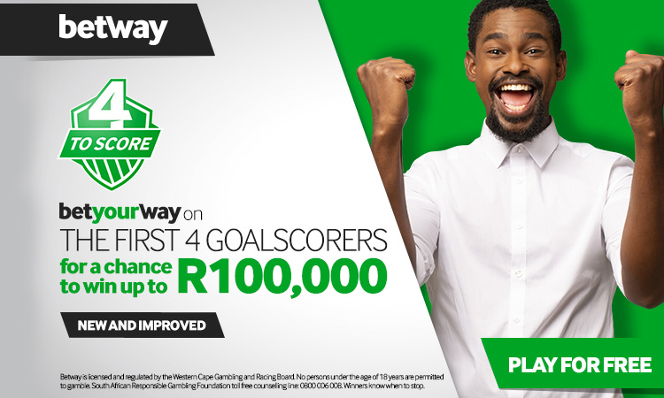 Betway 4 to Score Giveaway