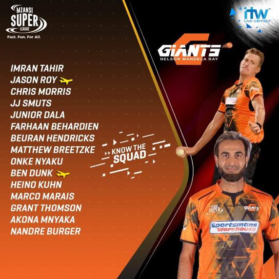 Nelson Mandela Bay Giants Squad